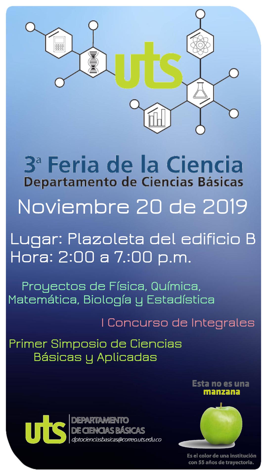 Afiche Feria de la Ciencia 2019